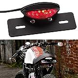 Moto Luce Targa a LED Luci di Stop per Freni per Harley Honda Cruiser Street Bike ATV