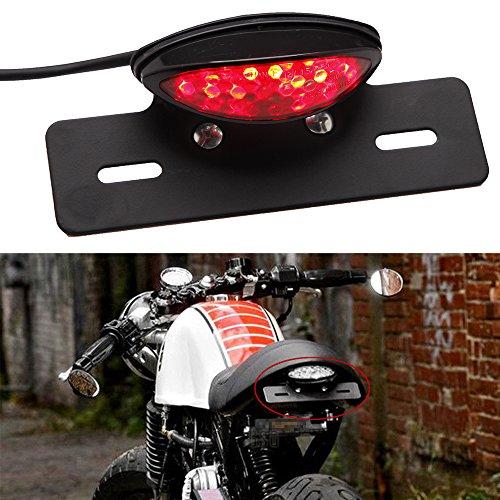 Moto Luce Targa a LED Luci di Stop per Freni perStreet Bike