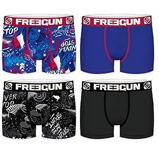 FREEGUN – Lote de 4 Calzoncillos de Microfibra para Hombre