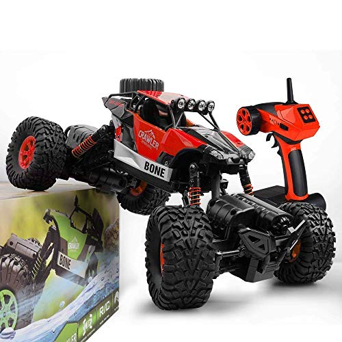 GizmoVine RC Car Large Size RC Rock Crawler Waterproof Climber 2.4Ghz Remote Control Off Road Vehicle for Kids and Adults (Red)