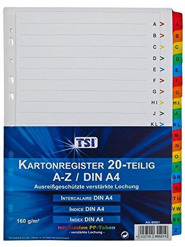 TSI 65521–Rubrica con linguette A-Z folienverstärkten