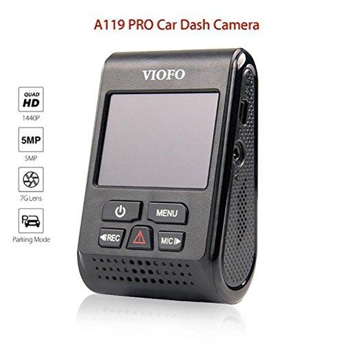 YWNC 1440P 30Fps Auto GPS Positionierung Fahrzeug Kamera Fahren Video Recorder Dash Cam Kamera 120 ° Weitwinkel 7G Objektiv und F1.8 Blende, Aufnahme, G-Sensor, Bewegungserkennung,Black+CPL