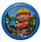 Unbekannt Wanduhr Bob der Baumeister - 29 cm groß Uhr - für Kinderzimmer Kinderuhr - Analog Wendy Baustelle Baufahrzeuge Jungen blau