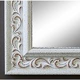 Spiegel Wandspiegel Badspiegel Flurspiegel Garderobenspiegel - Über 200 Größen - Verona Weiß 4,4 - Außenmaß des Spiegels 50 x 60 - Wunschmaße auf Anfrage - Modern