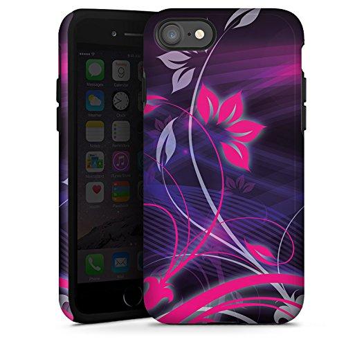 Apple iPhone X Silikon Hülle Case Schutzhülle Blumen Ornamente Floral Tough Case glänzend