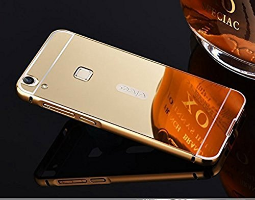 Aart Luxury Metal Bumper Frame Case with Acrylic Mirror Back Cover for Vivo V3 Max