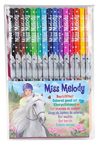 Depesche 8806 - Buntstifte Miss Melody Set mit 15 Farben