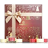 Luxury Scented Candle Gift Set with 21 x Festive Tea lights plus holder A Large Candle Gift perfect as for Women, for Her. (Dazzlebeam Snow)