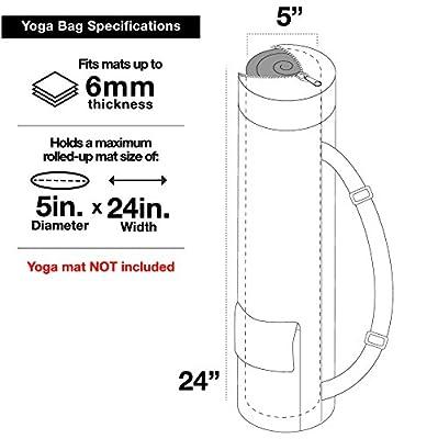 Fit Spirit® Exercise Yoga-Mattentasche in Premium-Designs w/ 2 Cargo-Taschen - Wählen Sie Ihre Farbe & Design