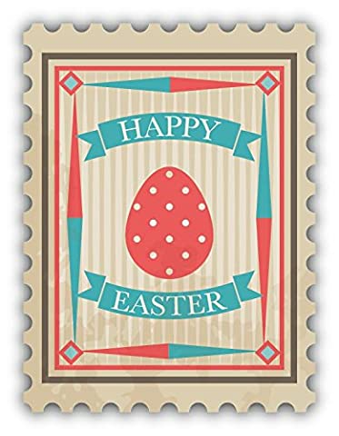 Happy Easter Egg Mail Postage Stamp De Haute Qualite Pare-Chocs Automobiles Autocollant 10 x 12 cm