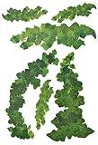 alles-meine.de GmbH 6 tlg. Set: XXL Wandtattoo / Sticker -  Efeu Ranken / Pflanzen - Blumenranke  - Grün Grünpflanze Blume Efeuranke - Wandsticker Aufkleber - Wandaufkleber