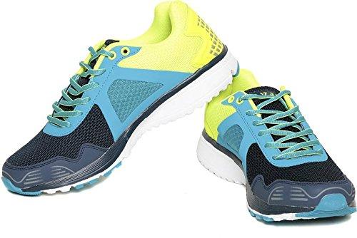 Seven Zeus Patriot Blue Nautical Blue Lime Punch Running Shoes(Multicolor)