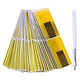 Nabance Nagel Schablonen (200 Stück) Modellier-Schablonen Selbstklebend für Gel-Nägel Nagel-Verlängerung Golden Schablonen