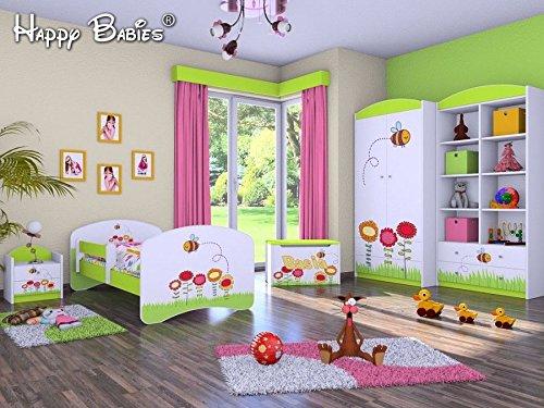 """5-teiliges Set Jugendzimmer Kindermöbel """"Insekten"""" Kinderbett für Mädchen/Jungen"""