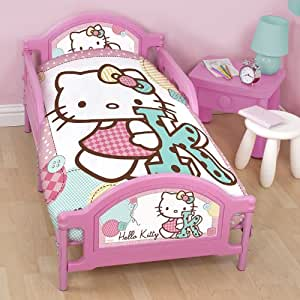 hello kitty stitch kleinkind bett pink k che. Black Bedroom Furniture Sets. Home Design Ideas