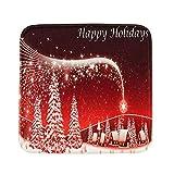 Weihnachten Stuhlkissen Sitzkissen, Weihnachten Dekoration, Purple Angel Christmas Kissenbezügen Weihnachtskissen Kissenhülle Weiches Wärmer Sitzkissen Weihnachten Taillenkissenbezug (ca. 40x40cm)
