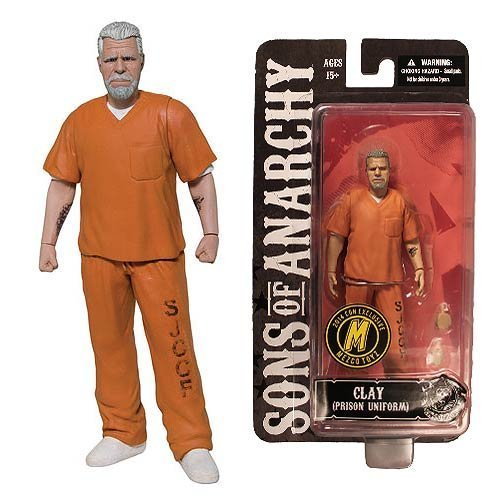w York Comic Con Exclusive, Sons Of Anarchy, Orange Prison Variant, Clay Morrow Figure by Mezco ()
