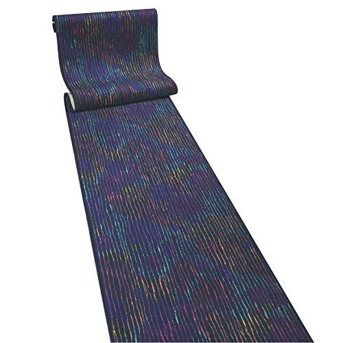 Techno blau Teppichläufer Meterware 80 cm breit Teppich Läufer Brücke Flur in vielen Längen und Breiten lieferbar