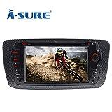 A-Sure Autoradio GPS Navigation DVD VMCD RDS Bluetooth Spigel Link Auto Navi Für SEAT IBIZA 2009-2013 original Kartematerial (49 europäische Länder) VSIQ