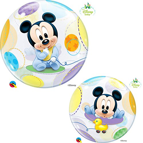 Qualatex 16432 'Single DN bebé Mickey Mouse 1' globo de burbujas, 55,9 cm (22)