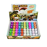 Wenosda Dinosaur Eggs Toy Hatching Growing Dino Dragon Egg for Kids Small Size Pack of 60pcs (Mixed 4 style Color)