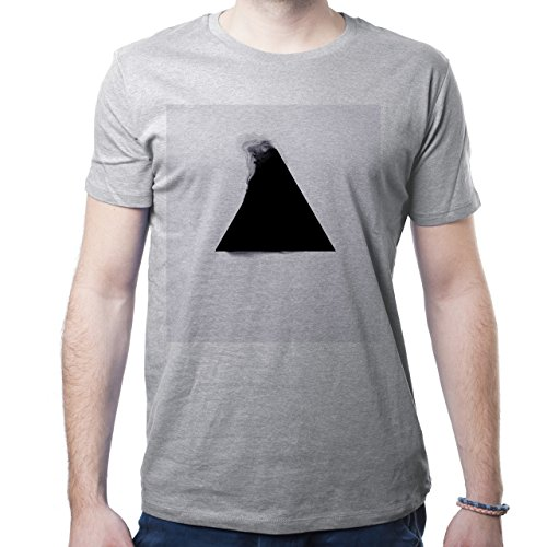 Illuminati Triangle Art Majestic Dusty Washed Triangle Herren T-Shirt Grau