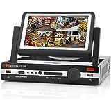 SHOPINNOV Enregistreur DVR 8 canaux Ecran 7 pouces H.264 Resolution D1 Port HDMI
