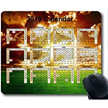 Yanteng Calendario 2019 con Cojines Importantes para Las Fiestas, Mouse Pad, Pintura de Cielo