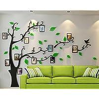ZPL 3D Crystal árbol pared pegatinas foto marco tamaño estilo salón dormitorio estudio disponible bajo demanda , ultra small 130*100cm