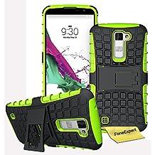 LG K10 Funda, FoneExpert® Heavy Duty silicona híbrida con soporte Cáscara de Cubierta Protectora de Doble Capa Funda Caso para LG K10 + Protector Pantalla