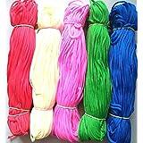 Happycraft 1mm Nylon Knot Cord Macrame Beading Braided Thread Cord Rope-Set of 5 Rainbow Colours
