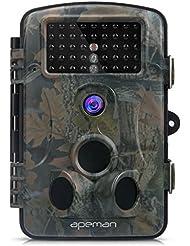 APEMAN Caméra de Chasse Surveillance 12MP 1080P HD 42PCS IR LEDs 120°Grand Angle Vision Nocturne jusqu'à 65 pieds/20m
