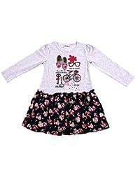 Nova-robe à manches longues de vélo pour fille avec imprimé et chaussure blumenrock-robe en jersey