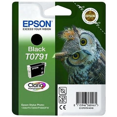 Epson Black Ink Cartridge T0791 - Cartucho de tinta para impresoras (112 mm, 30 mm, 142 mm)