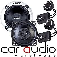 """Vibe Slick 5 Comp V5 480 Watt a Pair 5.25/"""" 13cm Car Van Door Speaker Tweeter Kit"""