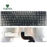 TLBTEK Teclado Original Español para Acer 5741 5810 5536 5738 5810T 7750 5735 E442 E640 5242 7750 8940 8935 741G 5740 5740G 5740Z 5742 5742Z 5745G 5745 5745P 5800 5250 G460 G460G E1-571G E1-531 E1-531G E1 521 531 571 E1-521 E1-571 E1-521G negro