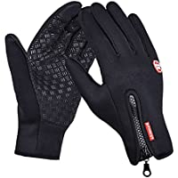 Touch Screen Gloves, Beupro Cycling waterproof Winter Outdoor Bike Gloves Smartphone Touchscreen Gloves for Man and Woman Adjustable Size