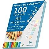 Dohe 30193 - Pack de 100 papeles A4, 80 g., color azul pastel