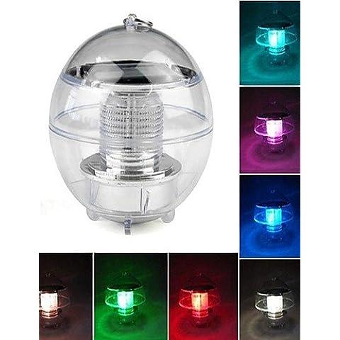 LONG-7 colori che cambiano impermeabile Arcobaleno Pool solare della sfera della lampada della luce di galleggiamento del LED