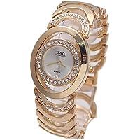 Sheli Bianco Petite Face Argento Tono Acciaio Inossidabile Quarzo Bracciale orologio per donna, 25mm