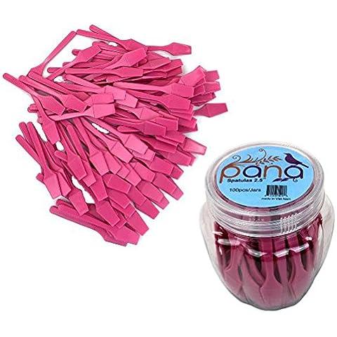 beauticom® pana marca (Color Rosa) (100pcs en un recipiente) Maquillaje desechables de plástico 2.5espátulas Cuidado de la piel facial máscara de crema