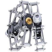 Pedales de Bicicleta de Montaña Echelonline, MTB Pedales para Bicicleta Planos de Aleación de Aluminio (5% cupón de descuento 489O2EXL) … (Plata)