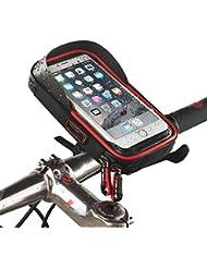 Wasserdicht Fahrrad Handy Halterung mit Tasche wasserabweisend Radfahren Rahmen Transparent anfassbar Schutzhülle 360Grad drehbar für Smartphone, Handy, Navi, GPS Halterung/für 15,2cm iPhone 6Plus 6S 7S Plus, Samsung Galaxy S4S6S8S6S5Sony Xperia Z3Z4Z5Plus 3ZTE Axon 7LG G5G6G4Honor 8