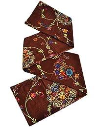 toutacoo Paréo de Plage à Sequins - 100% Coton Marron Hortensia