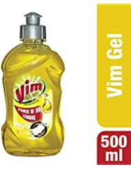Vim Dishwash Gel, Lemon, 500 ml