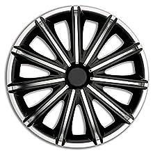 AUTOSTYLE PP 5118SB Jeu d'enjoliveurs Nero 18-inch Argent/Noir