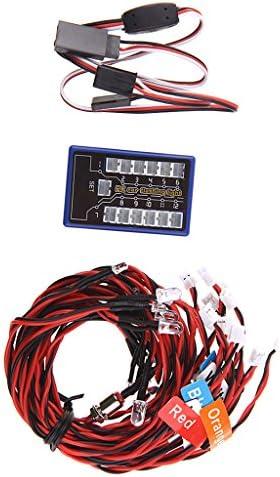 MagiDeal Kit de Système d'Eclairage à 12 LED Feux Feux Feux de Simulation de Freinage pour 1/10 RC Voiture | Réputation D'abord  7c8ee2