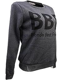 Mode Femmes T-shirt Impression Jumper Top Sweatshirts à Manches Longues Pull Décontracté Vêtement