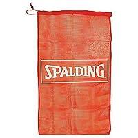 Spalding 8361SCNR Bolsa Rejilla para 7 balones, Unisex, Rojo, Talla Única