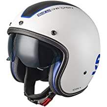 Sparco 0033402MBIAZ Cafe Racer Helme, Weiß, M